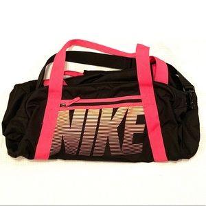 Black and Pink Nike Duffle Bag